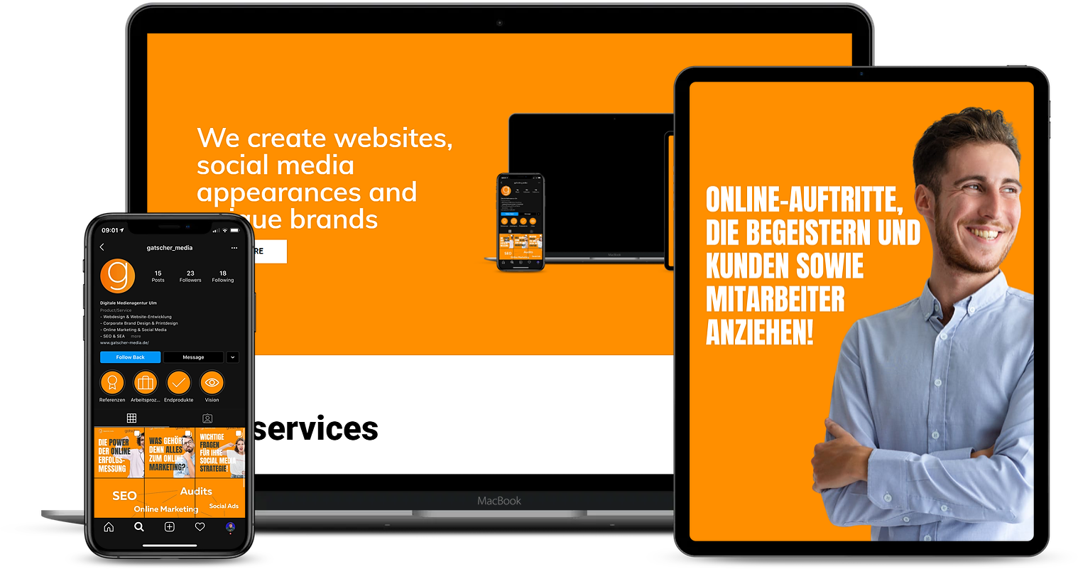 gatscher media Online Marketing Agentur Ulm mockup